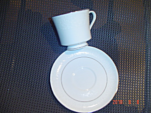 Crown Victoria Lovelace Footed Cups And Saucers
