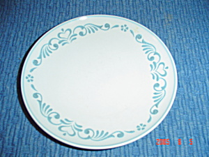 Franciscan Blue Fancy Bread And Butter Plates