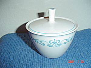 Franciscan Blue Fancy Covered Sugar Bowl