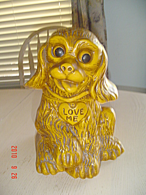 Cocker Spaniel Ceramic Cookie Jar - California Usa