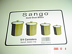 Sango Gold Dust Black Sugar Canister 8 In. Size Only