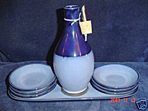 Sango Nova Blue Oil Dipping Dishes Only