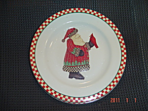 Sakura Debbie Mumm Magic Of Santa Salad Plate Style 2