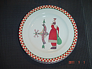 Sakura Debbie Mumm Magic Of Santa Salad Plate Style 3