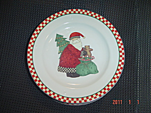 Sakura Debbie Mumm Magic Of Santa Salad Plate Style 4