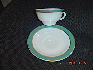 Pyrex Olive Cups And Saucers
