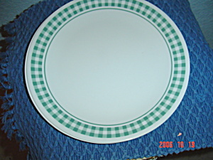 Corelle Green Plaid Dinner Plates (Image1)