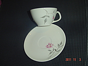 Universal Ballerina Rosette Cups And Saucers