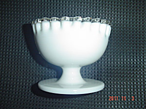 Fenton Silver Crest Footed/pedestal Straight Side Dessert Bowl