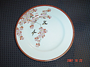 Japanese Oriental Asian Birds/flowers Dinner Plates