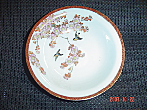 Japanese Oriental Asian Birds/flowers Soup Bowls