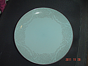 222 Fifth Chandi Blue Dinner Plates Stoneware
