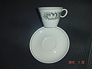 Vintage Franciscan Bird 'n Hand Cups And Saucers