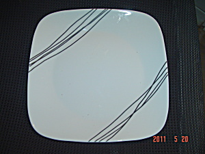 Corelle Simple Sketch Square Lunch/Salad Plates (Image1)