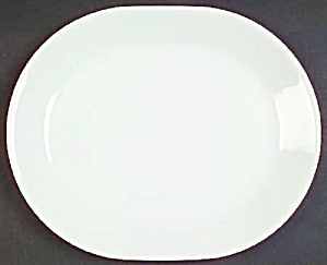 Corning White Frost Small Oval Platter