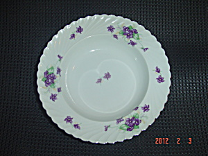 Royal Tettau Viola Rimmed Soup Bowls Beautiful