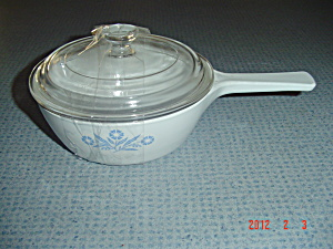 Corning Ware Cornflower Blue 1 Pint Covered Sauce Pan