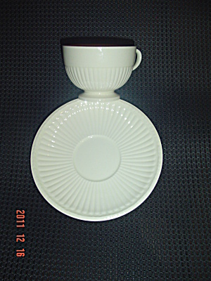 Wedgwood Edme Demitasse Cups And Saucers
