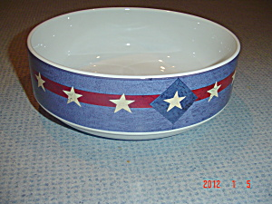 Sakura Warren Kimble Brandon House Spirit Of The Flag Serving Bowl