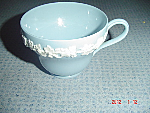 Wedgwood Blue (Lavender) Embossed Queen's Ware Cups