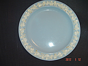 Wedgwood Blue (Lavender) Embossed Queen's Ware Dinner Plates