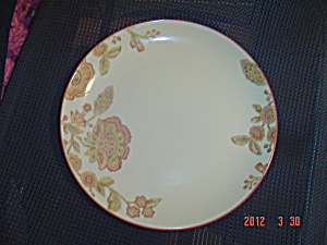 222 Fifth Pts Jacobean Red Dinner Plates