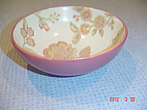222 Fifth Pts Jacobean Red Soup/cereal Bowls