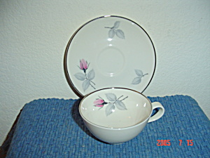 Syracuse China Bridal Rose Cup And Saucer