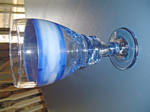 Sango Nova Blue 16 Oz. Water Goblets Made By Libbey