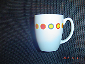 Brand New Corelle Hot Dots Tall Mugs