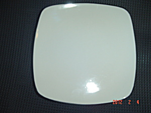 Corning Hearthstone Square White/black Salad Plates