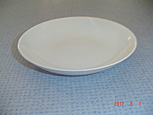 Vintage Franciscan El Patio Ivory Glossy Flat Soup Bowls