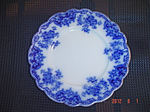 VINTAGE Johnson Bros. Blue Danube Flow Blue Luncheon Plates (Image1)