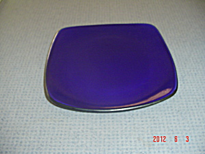 Corelle Hearthstone Indigo Blue Square Dinner Plates (Image1)