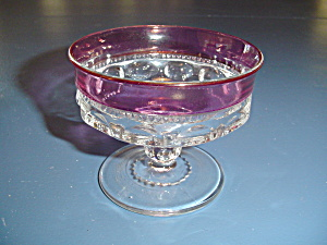 Indiana Glass King's Crown Cranberry Sherbet Bowls Or Short Champagne