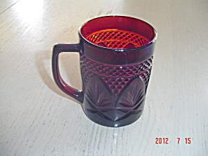 Luminarc France Red Mugs Cris D'arques/durand Arty-red