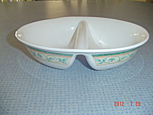 Pfaltzgraff French Quarter Oval Divided Serving Bowl