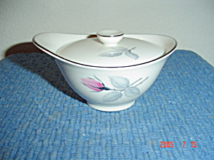 Syracuse China Bridal Rose Covered Sugar Bowl