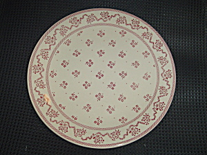 Johnson Laura Ashley Petite Fleur Burgundy/pink Bread & Butter Plates