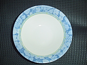 Arcopal Blue Leaf Border Cereal Bowls