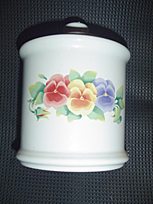 Corelle Jay Imports Summer Blush Tea Canister