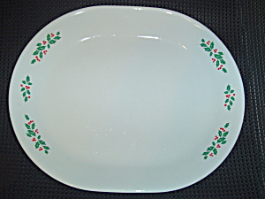 Corelle Winter Holly Oval Platter