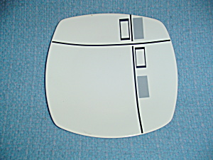 Coventry Tetrus Grey and Black Square Salad Plates (Image1)