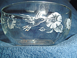 Avon Hummingbird Cereal Bowl Some Fading