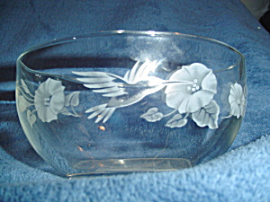 Avon Hummingbird Cereal Bowl Mint