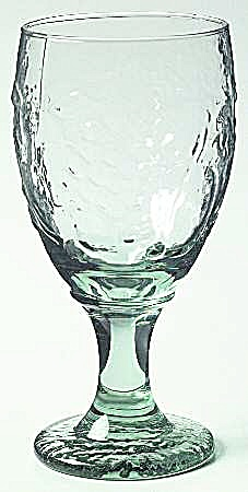 Libbey Glass Orchard Rock Sharpe Green Fruit Water Goblets