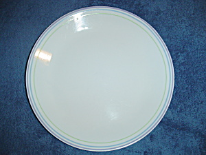 Corelle Band Stripe In Mint, Blue, Lavender Dinner Plates