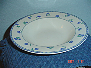 Mikasa Blue Medley Rimmed Serving Bowl (Image1)