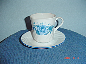 Corelle Blue Velvet Cups/saucers Sets