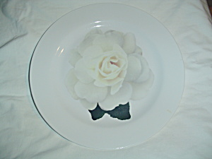 Isaac Mizrahi Rose Bloom White Dinner Plates